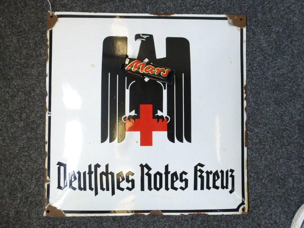 Emailleschild deutsches rotes kreuz ma e 50x50 hk for Kuchenschrank 50 x 50