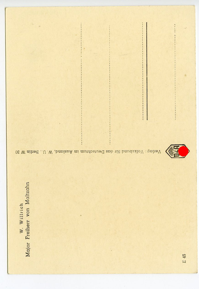 2 weltkrieg ansichtskarte major freiherr von maltzahn. Black Bedroom Furniture Sets. Home Design Ideas