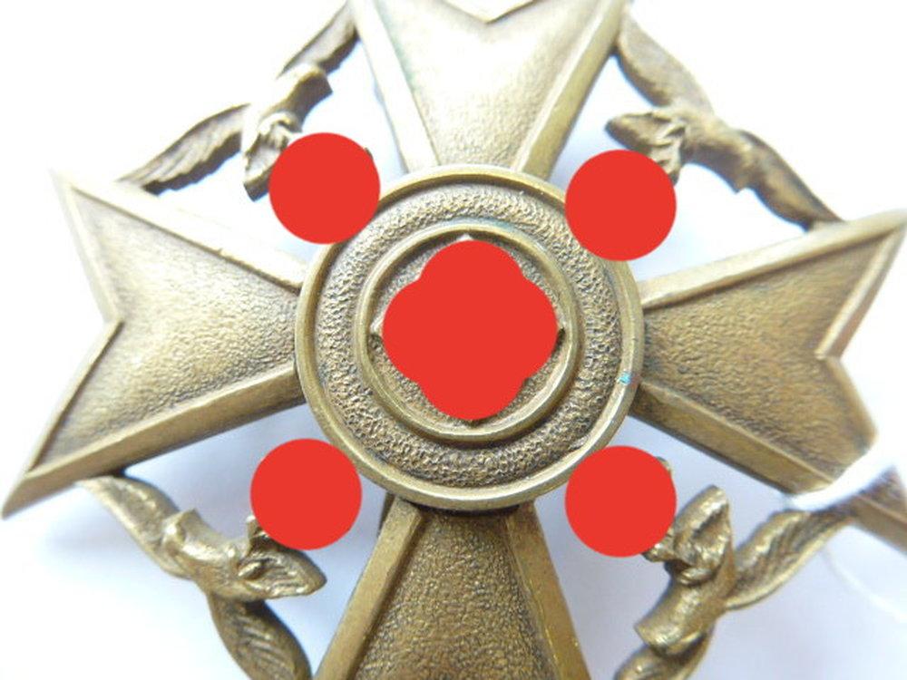 Spanienkreuz in bronze , Buntmetall, Nadel und Gegenhaken  -> Nähmaschine Nadel Bewegt Sich Nicht