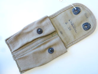 US Army WWI, pouch magazine , 1918 dated , khaki