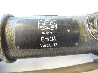 Entfernungsmesser Em 34 : Entfernungsmesser 34 hersteller optische werke warschau. originallac