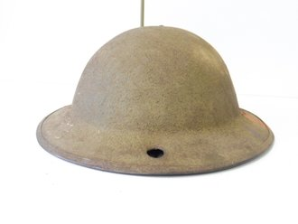 U.S. WWI Steel Helmet, original paint, liner dated 1918