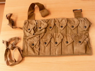US Army WWI, Handgrenade vest 1918 dated