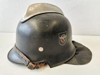 Feuerwehr Stahlhelm III.Reich. Originallack, guter Zustand, zusammengehörig