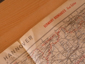 British WWII, Map  Hannover 1944