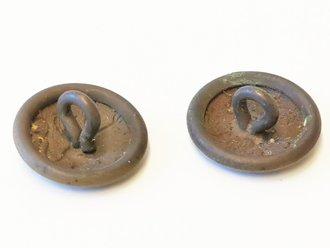 1.Weltkrieg, Paar Knöpfe für Schulterklappen, Durchmesser je 18mm