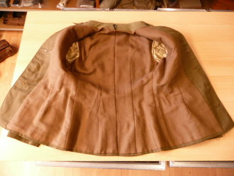 US Army WWI, coat and pants, M 1912, matching set, insignia original sewn