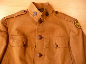 US Army WWI, Officers jacket and trousers, insignia original sewn on