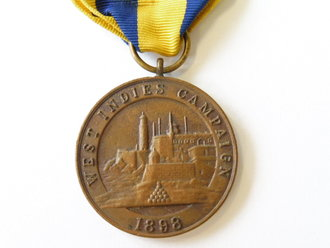 U.S. Army before WWI, medal West indies Campaign,OLDER REPRODUCTION
