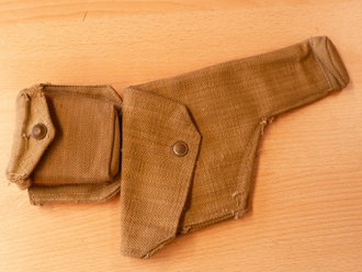 British WWII, P37 officers pistol holster with compass case, 1943 dated