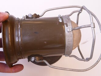 US Army WWII, Delta Powerlite Lantern, Original paint, uncleaned
